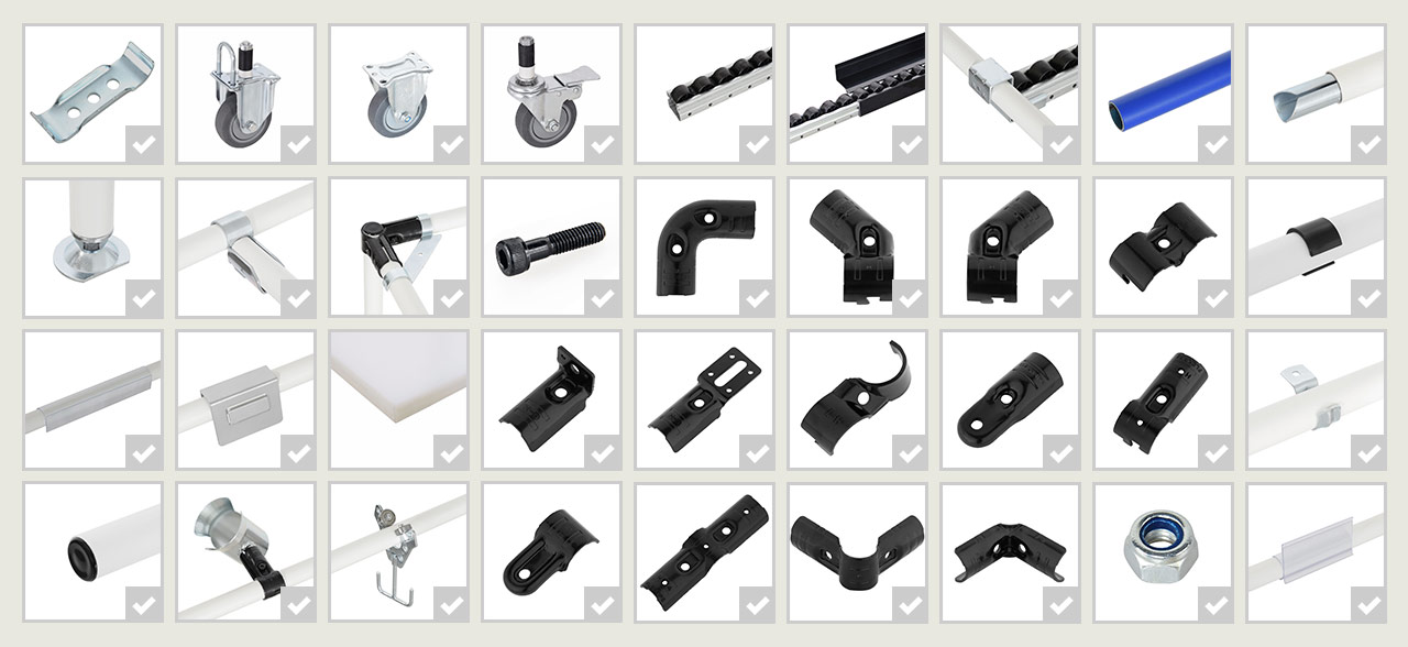 Parts selected
