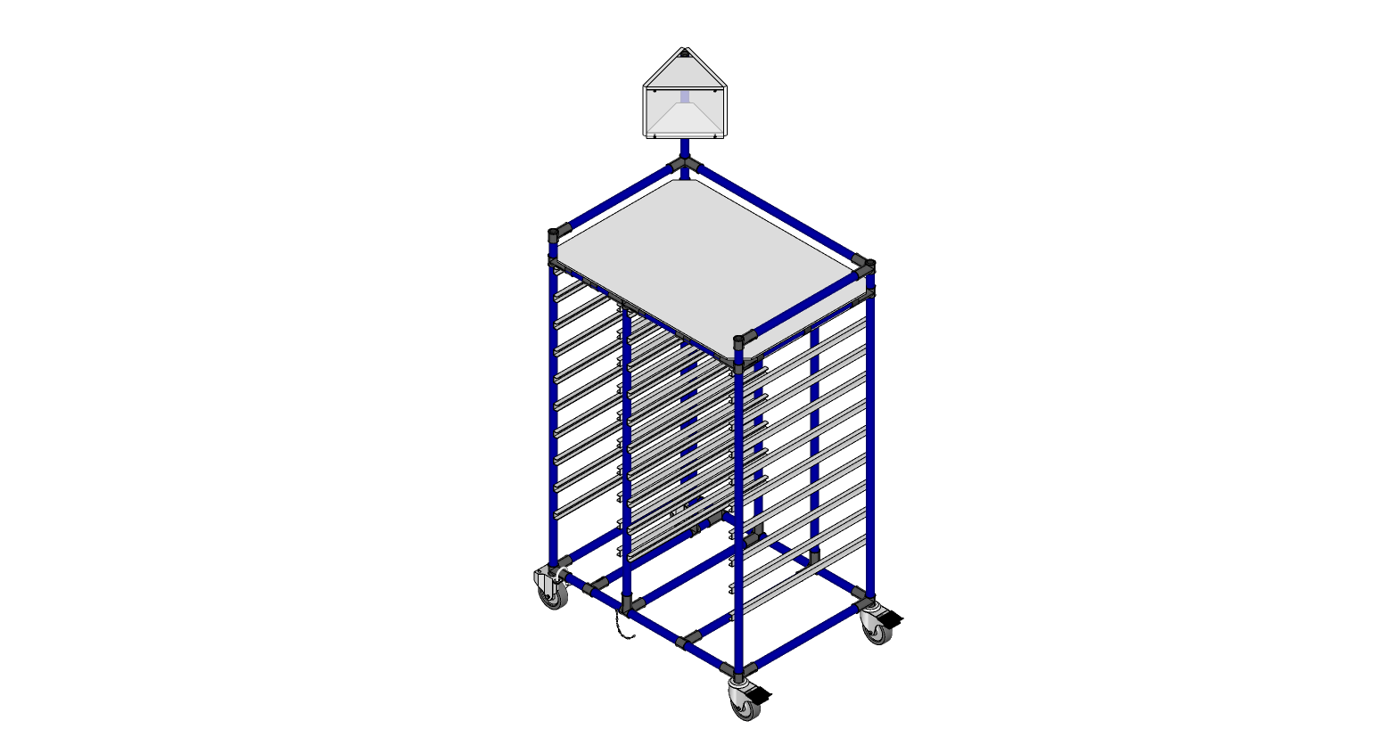 Drop point cart
