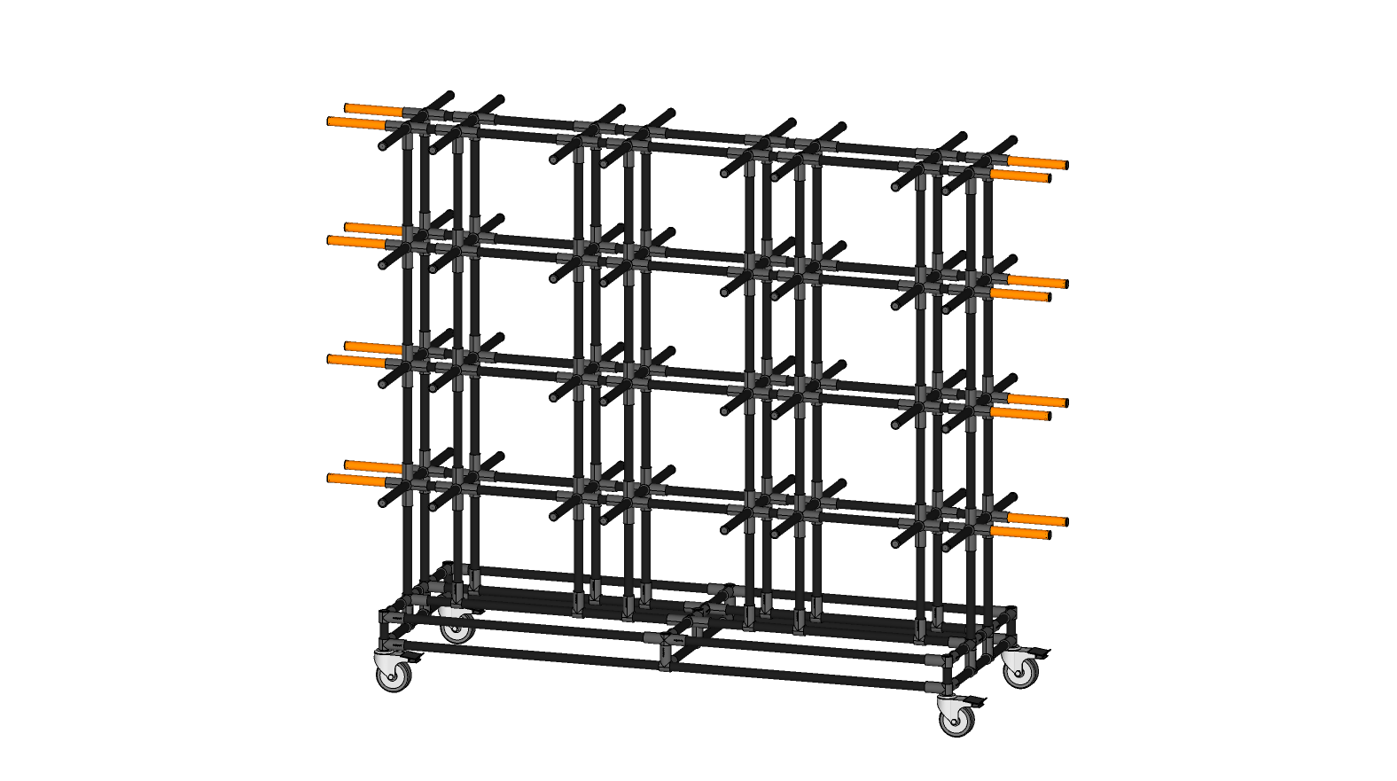 SIDE ENTRY INGROUND POTTING RACK