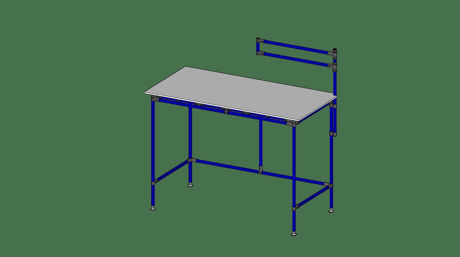 TABLE TRAVAIL AVEC SUPPORT À ÉCRAN - 60'' X 30''