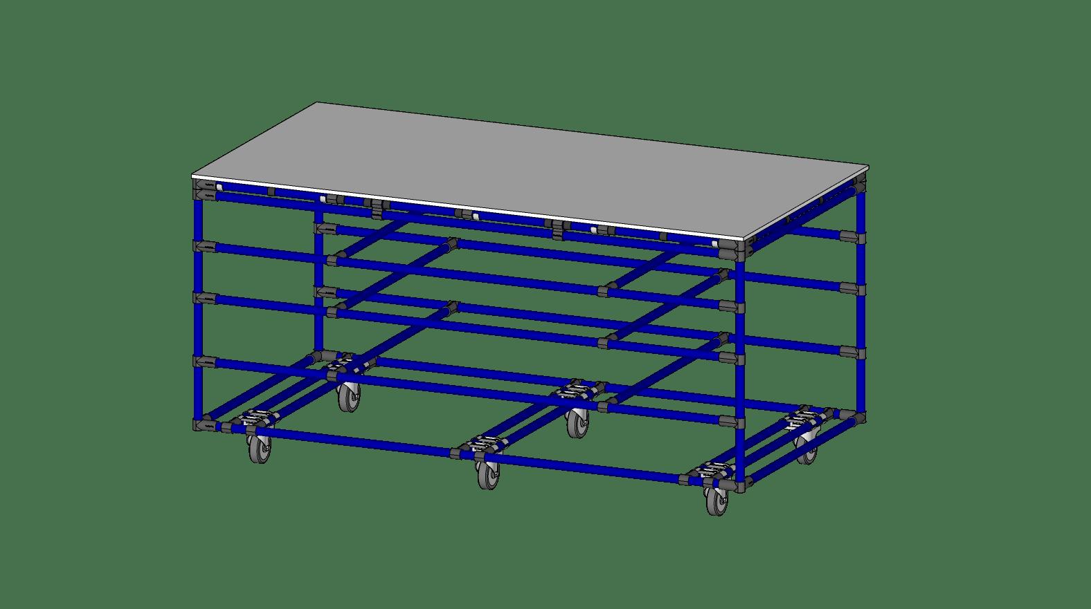 TABLE DE COLLAGE - 73'' X 37''