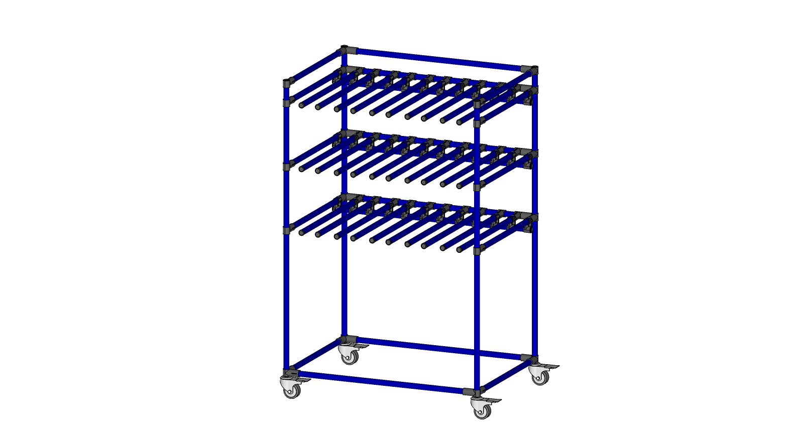 Rack with cantilevered support arms