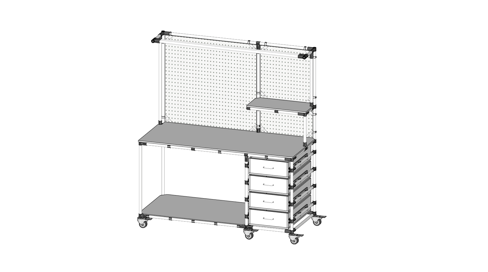 4 Drawer Workbench