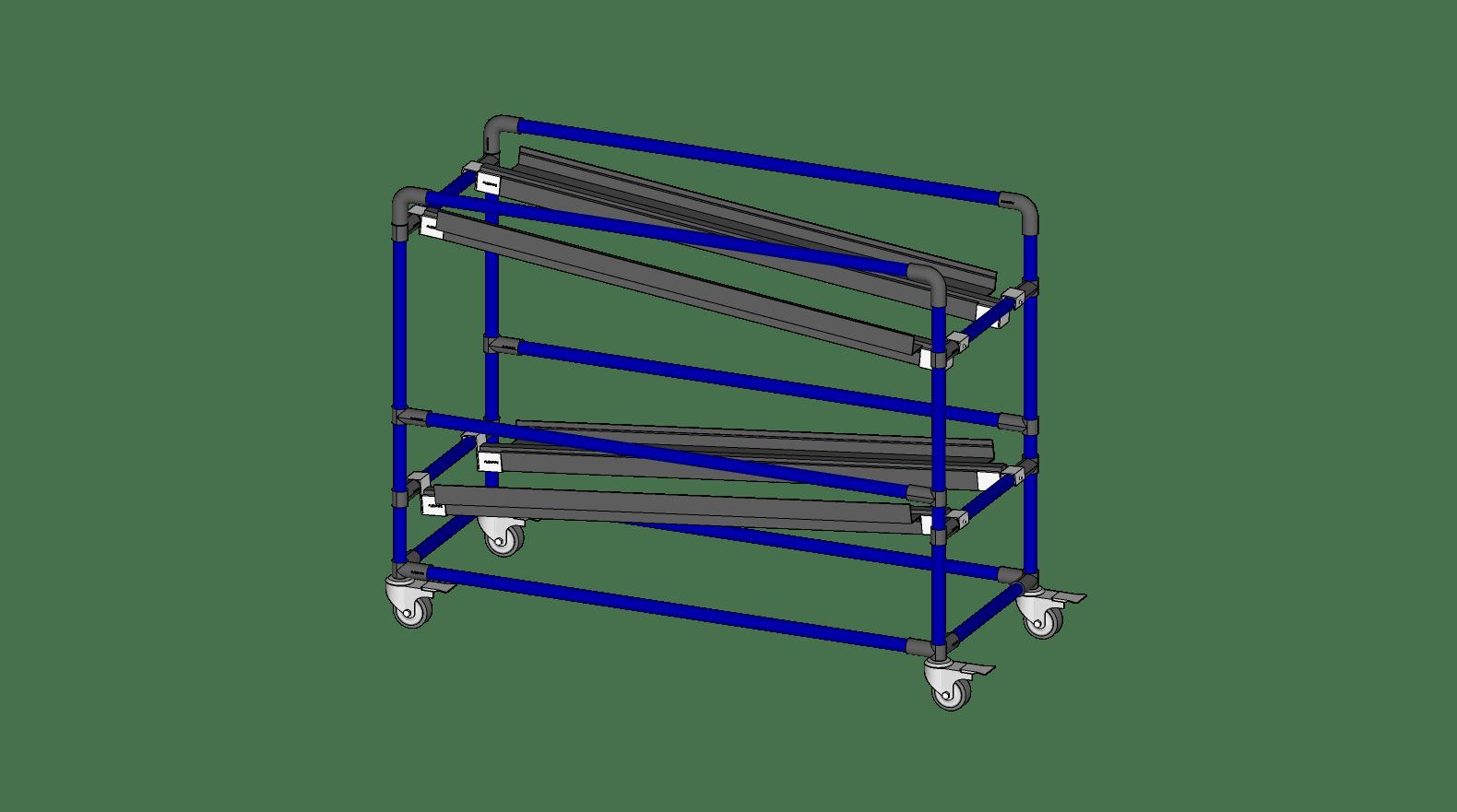 Étagère à gravité - 2 étages