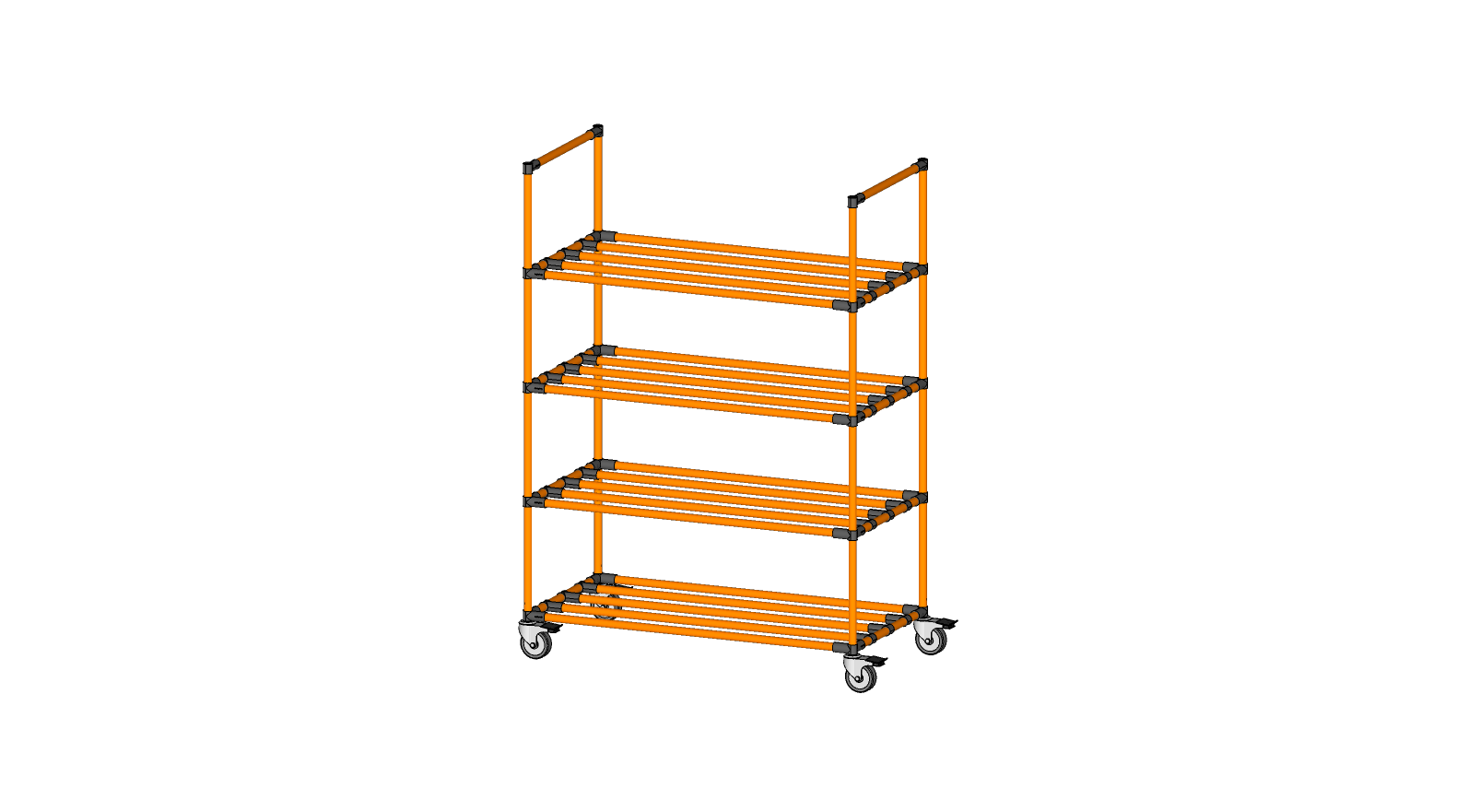 Shelving rack without decking
