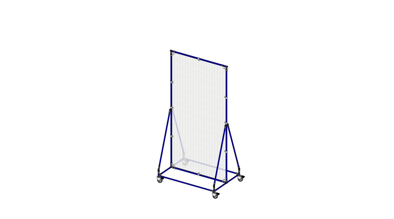 Mobile stand pegboard