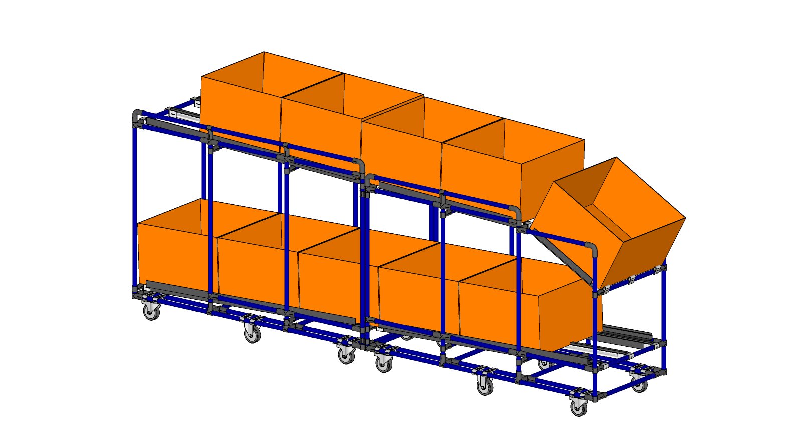 FIFO Flowrack with presentation