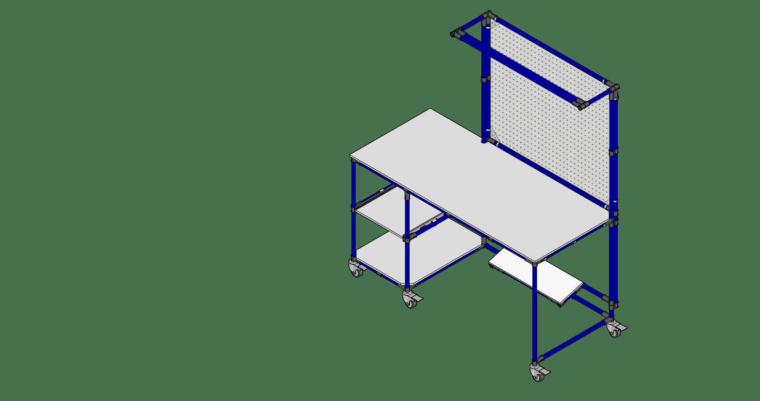 TABLE DE TRAVAIL AVEC PEGBOARD