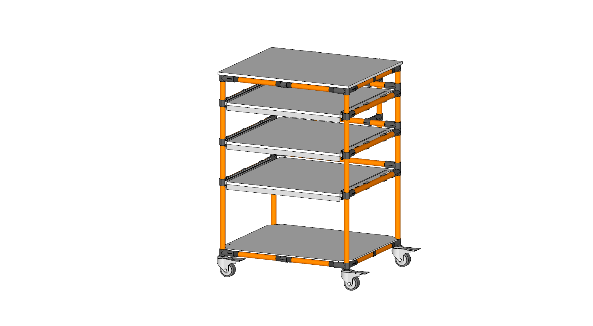 MOBILE STORAGE RACK WITH DRAWERS