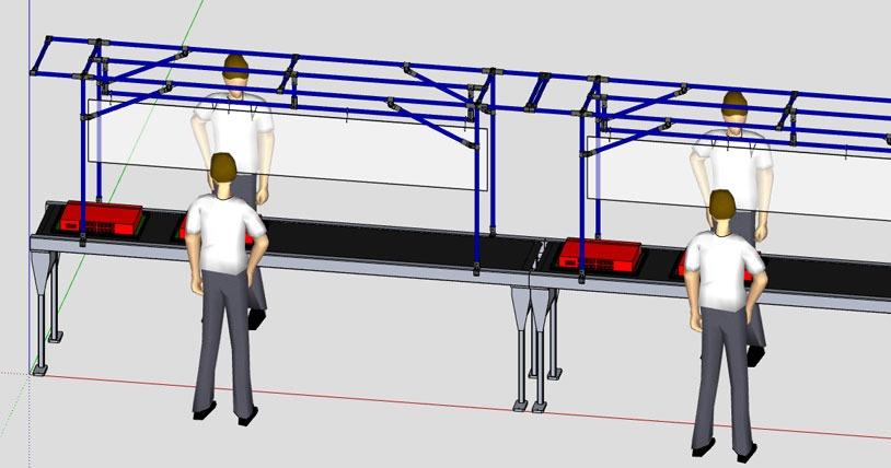 Panneaux protecteur pour les lignes d'assemblage