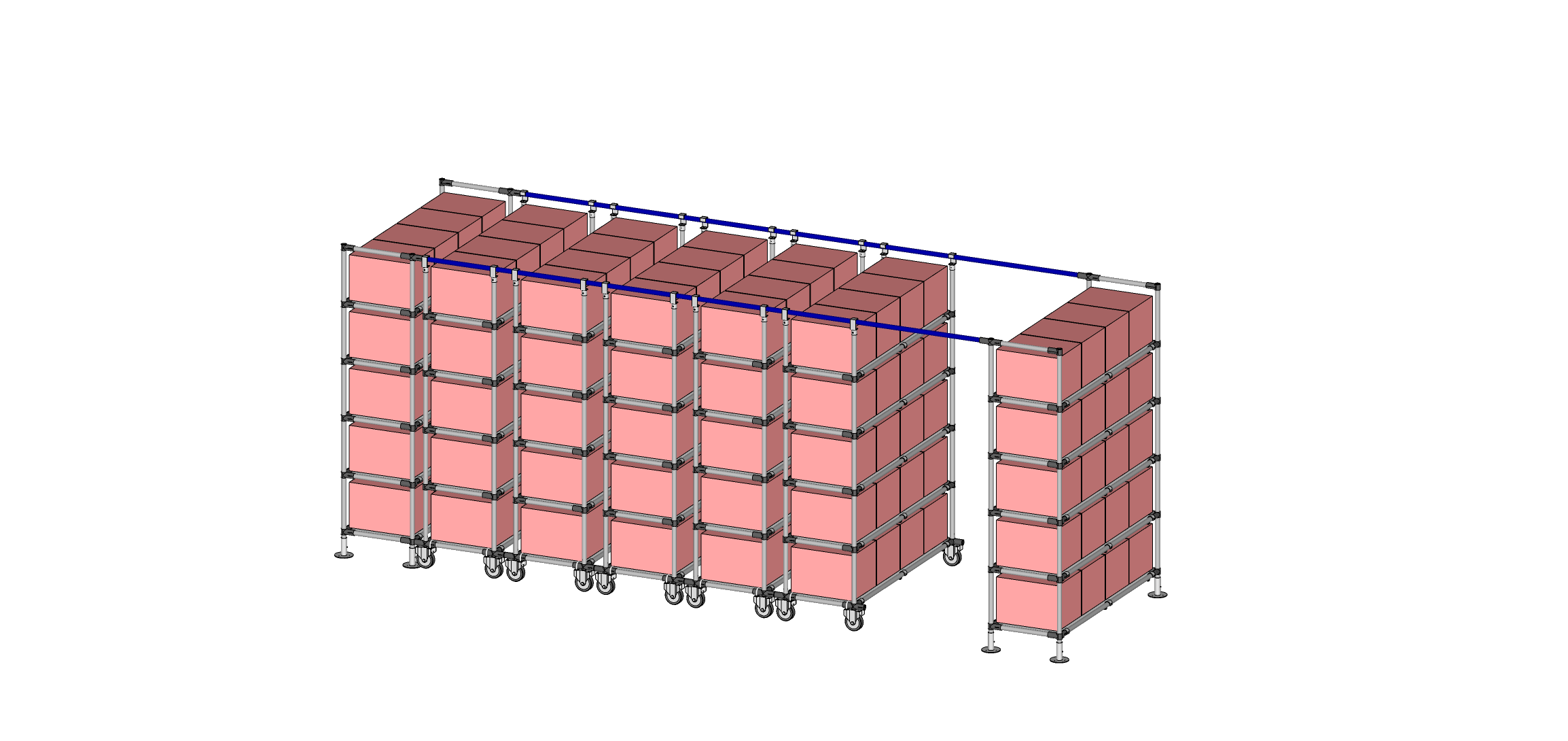 High Density Shelving Section