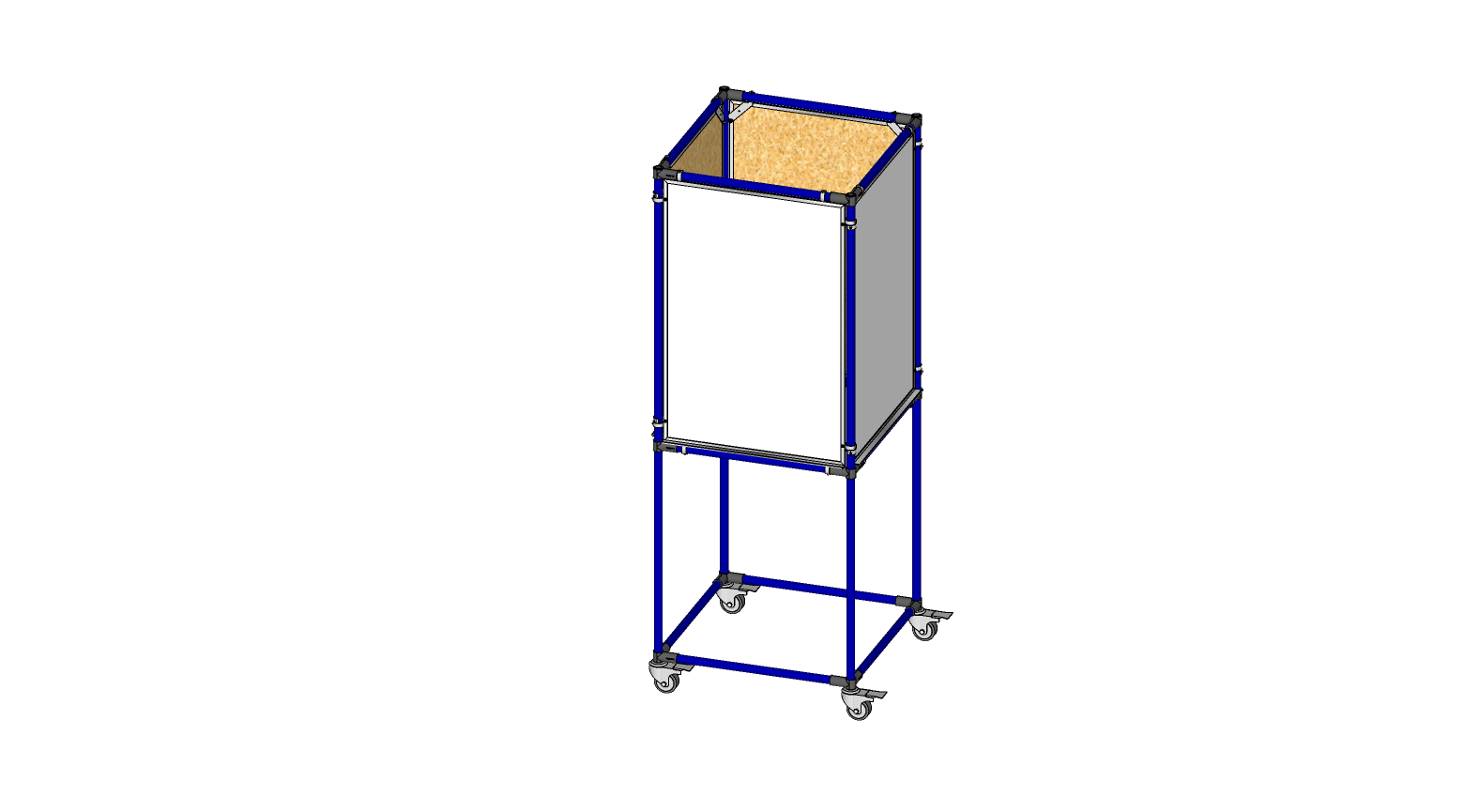 4 SIDED 2' X 3' WHITHE BOARD