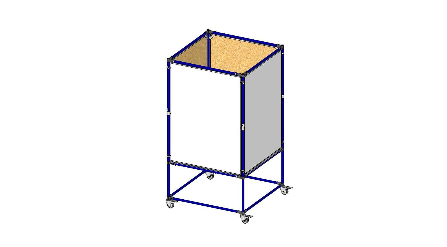 4 Sided 3' x 4' Whiteboard