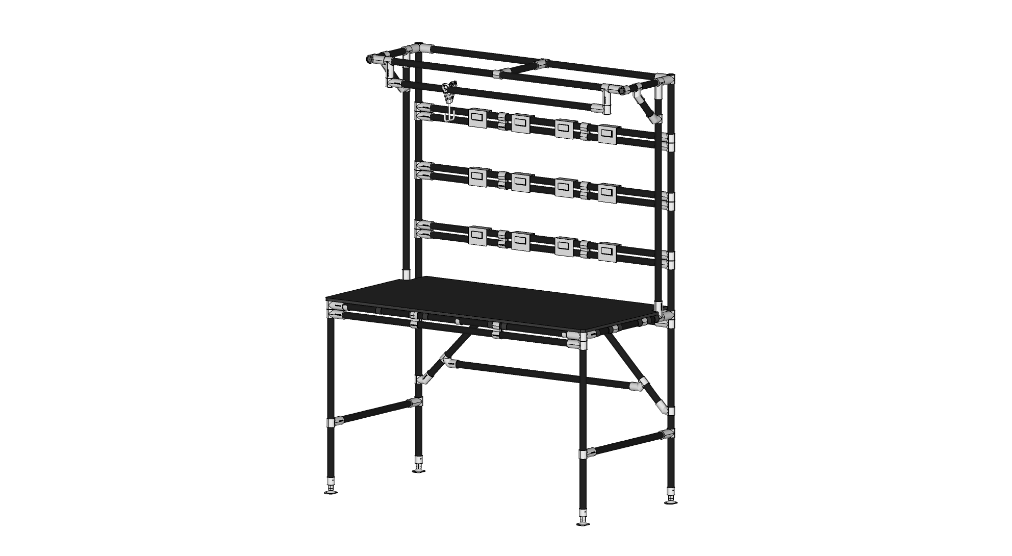 4824 Workbench with Bin Hangers