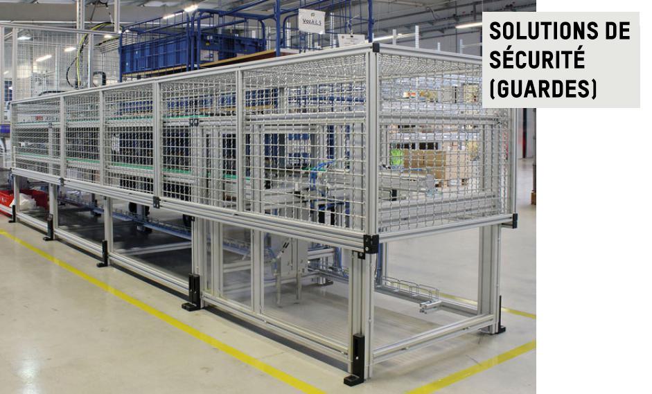 Des solutions de sécurité construites en profilés d'aluminium