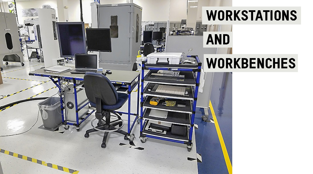 Image and text presenting the types of workstations Flexpipe can be a great option for