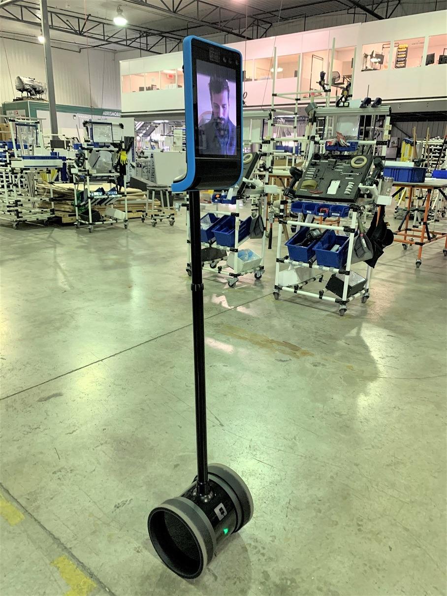 Flexpipe telepresence robot