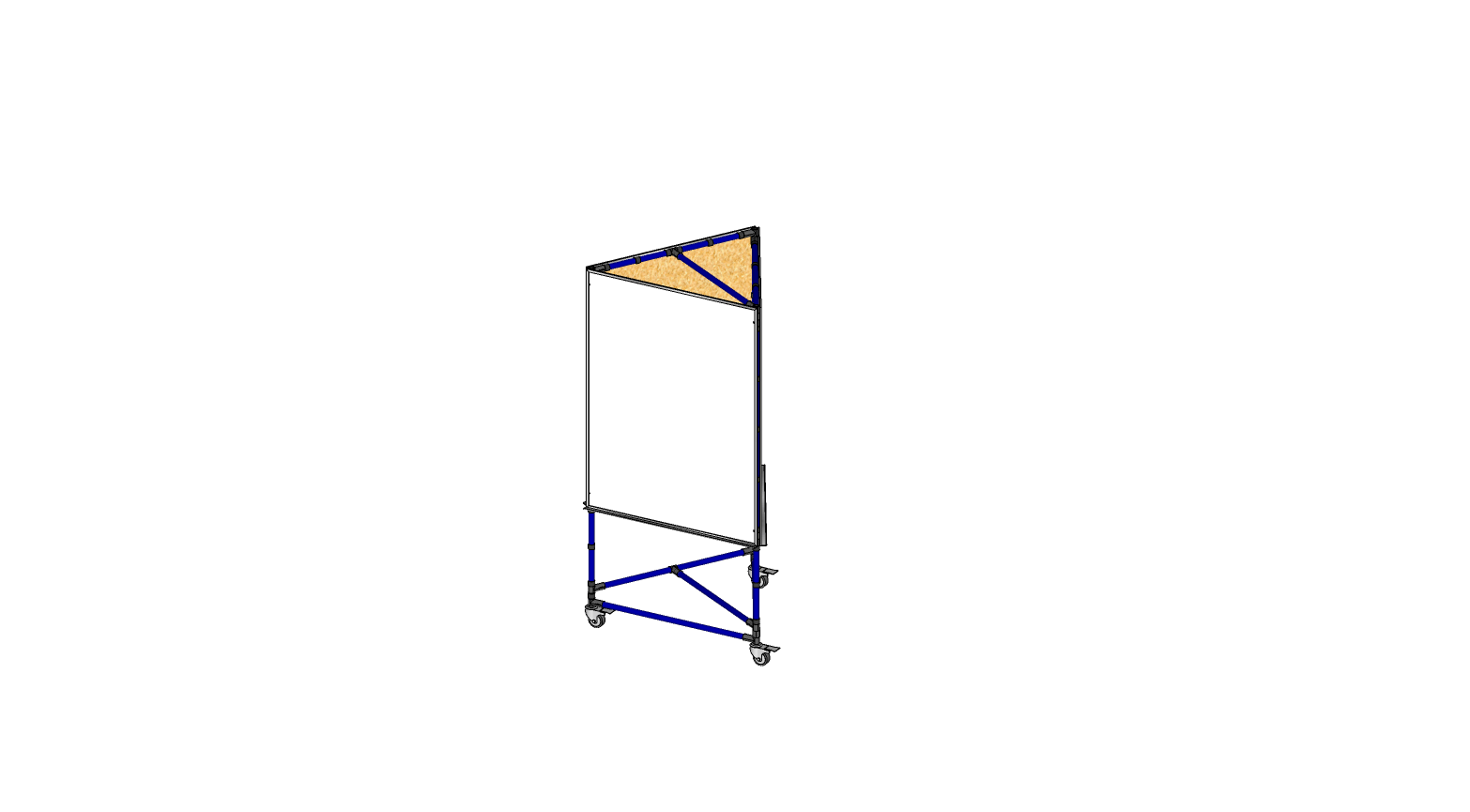 3 Sided 3' x 4' Whiteboard