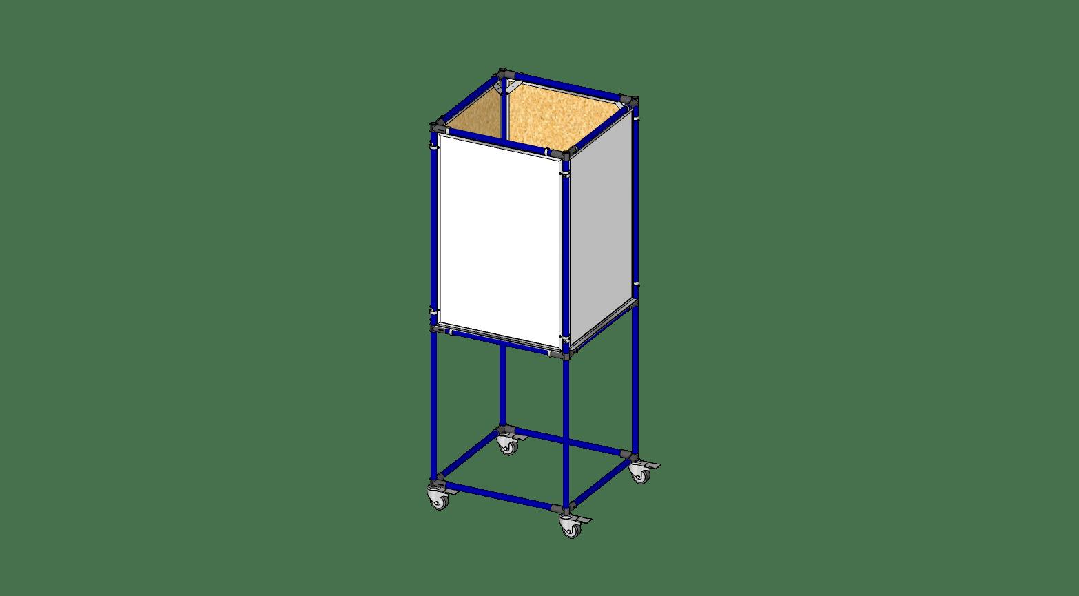 4 Sided 2' x 3' Whiteboard