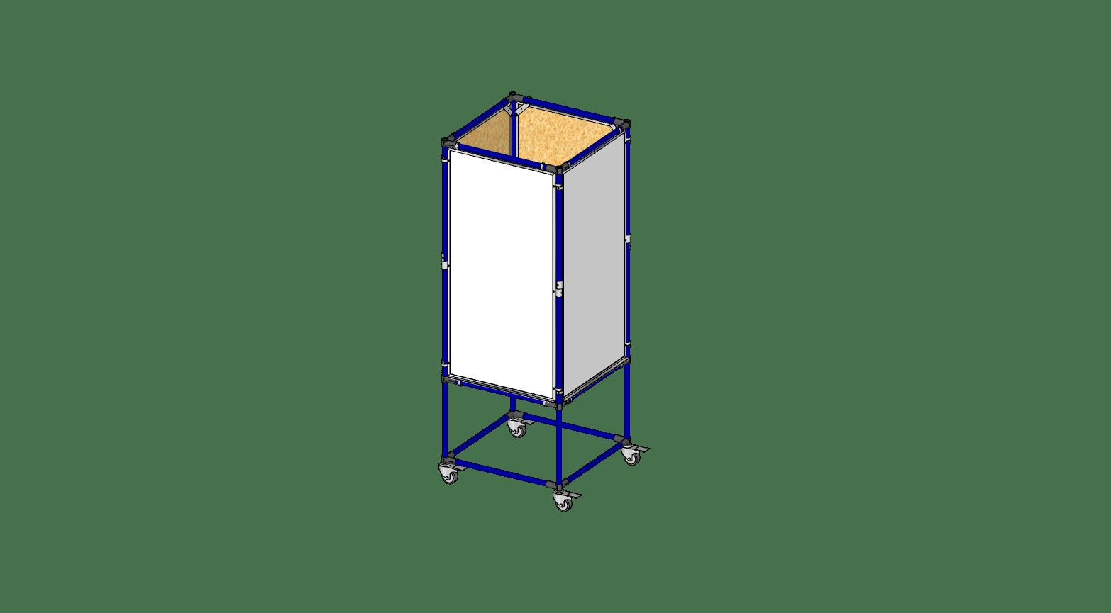 4 Sided 2' x 4' Whiteboard