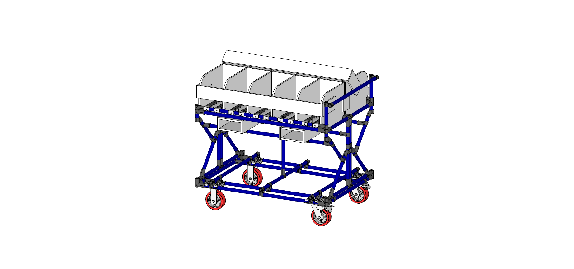 Electronic Hardware Transport Cart