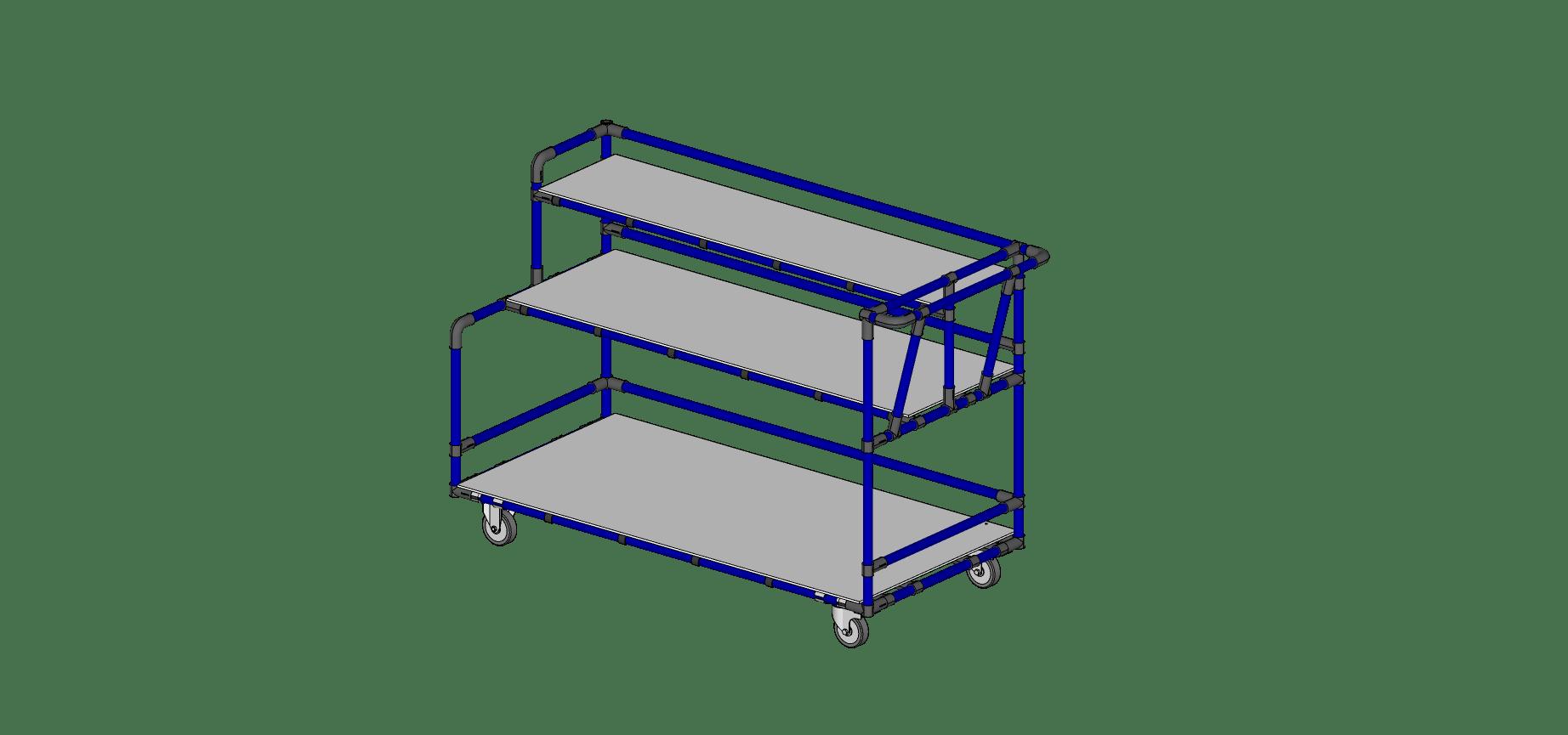 Triple Shelf Size Cart