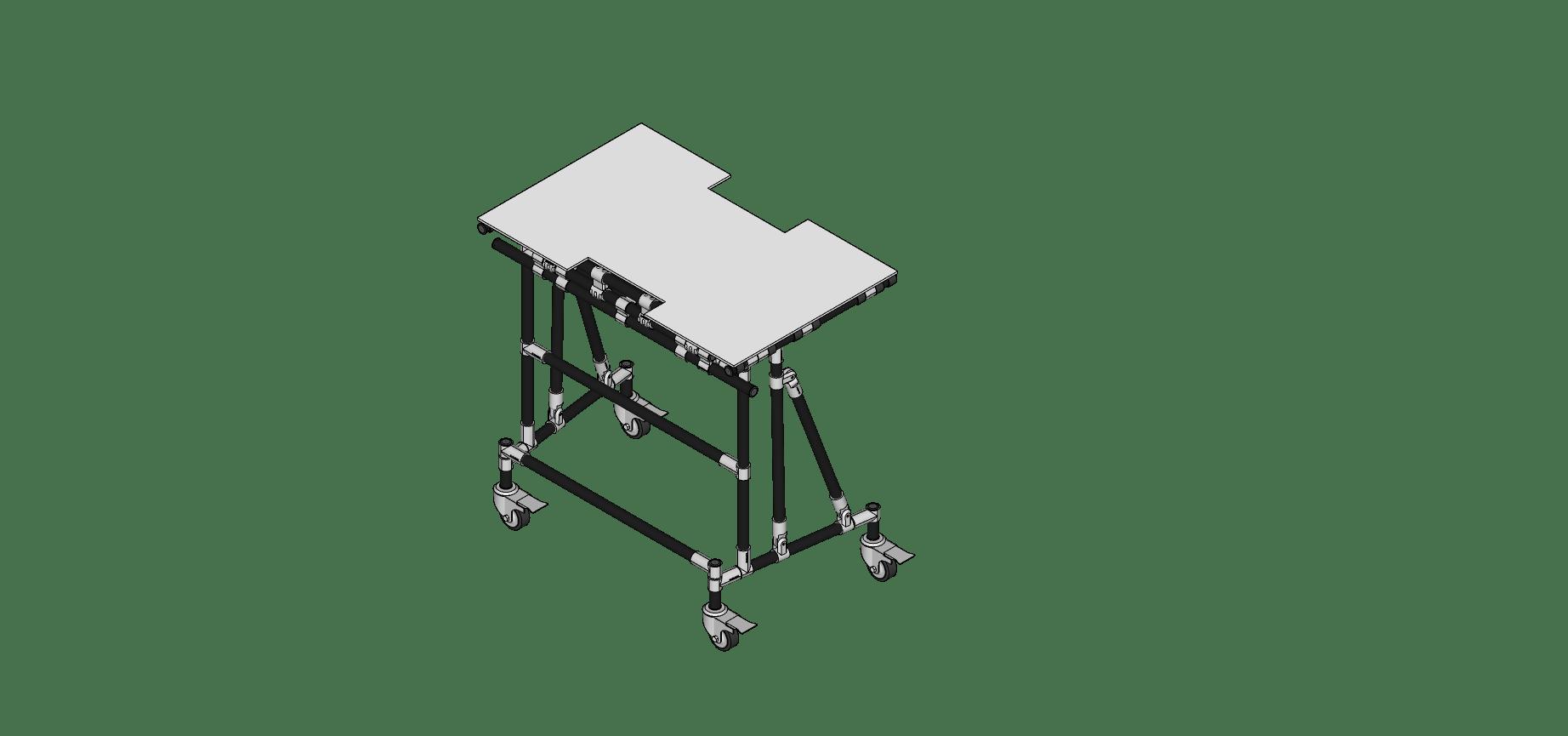 Table Pivotant et Embilable a L'Horizontal