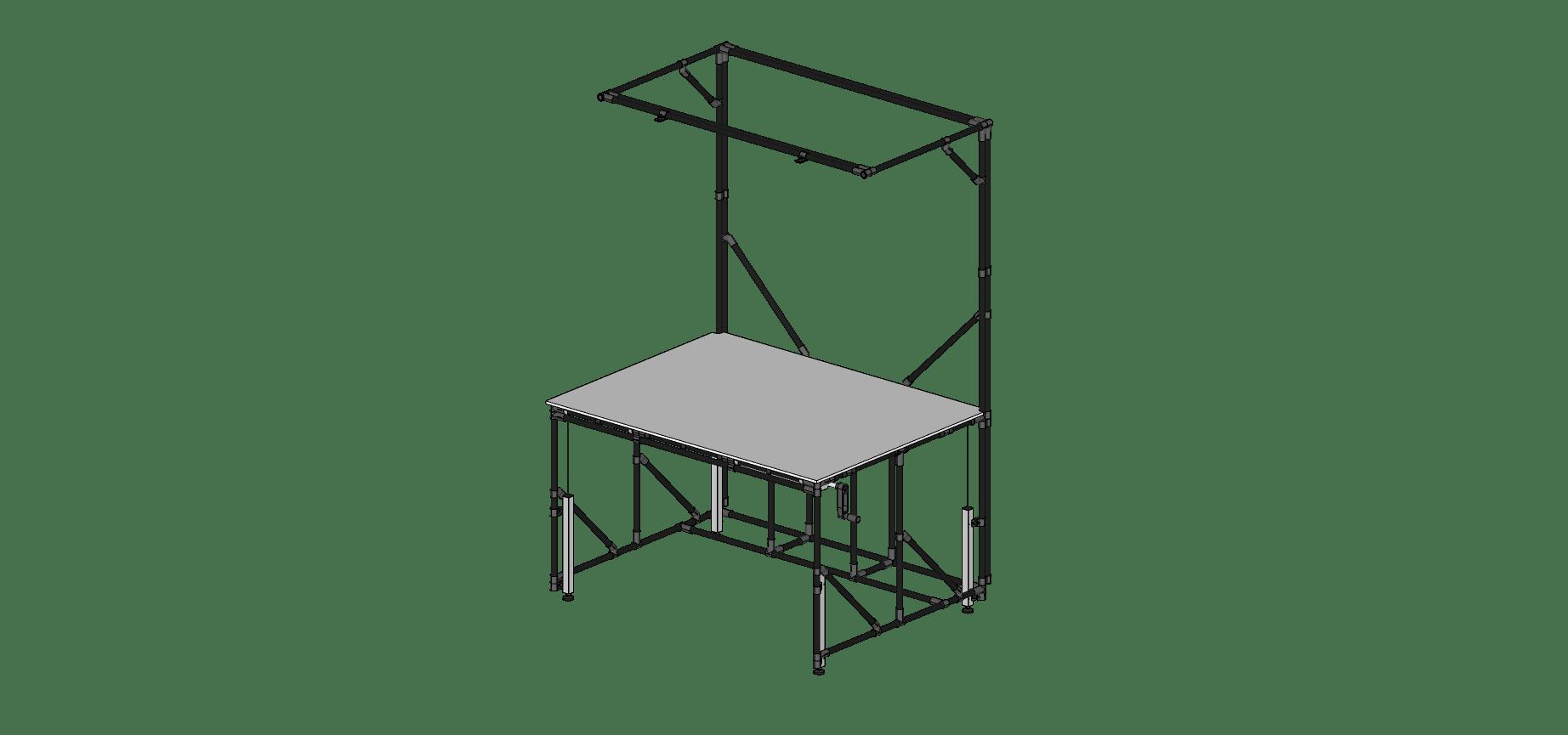 Reinforced Basic Workstation With Crank Kit