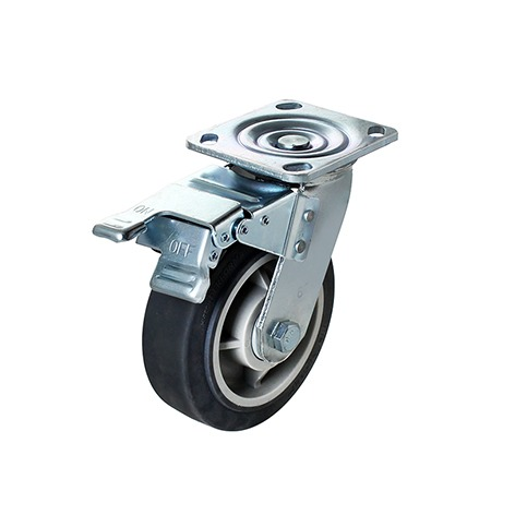 Flexpipe 6 inches plate swivel caster with brake