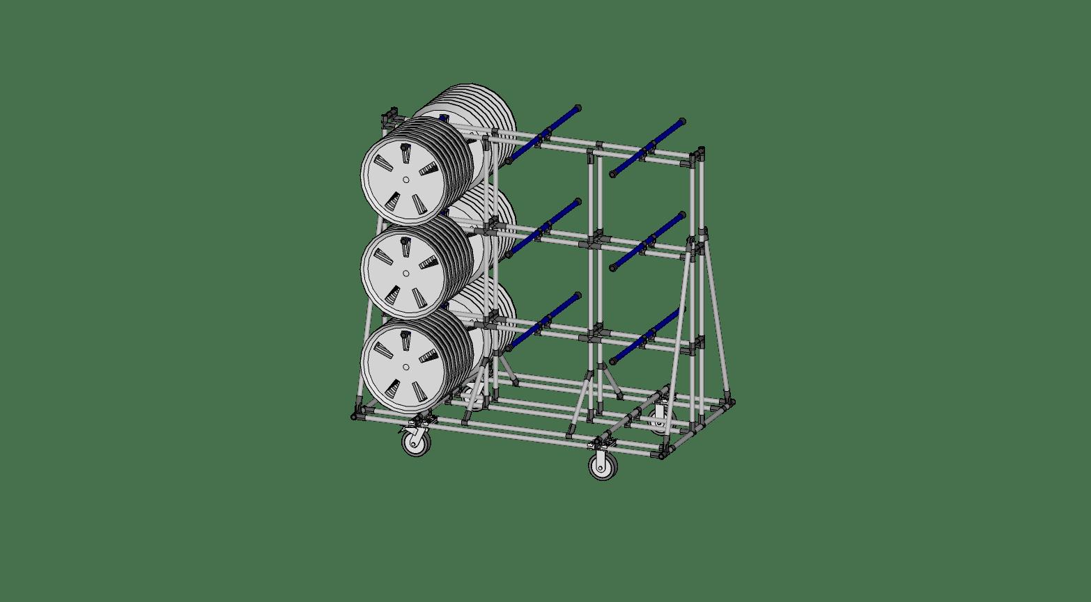 Hub Cap Cantilevered Cart