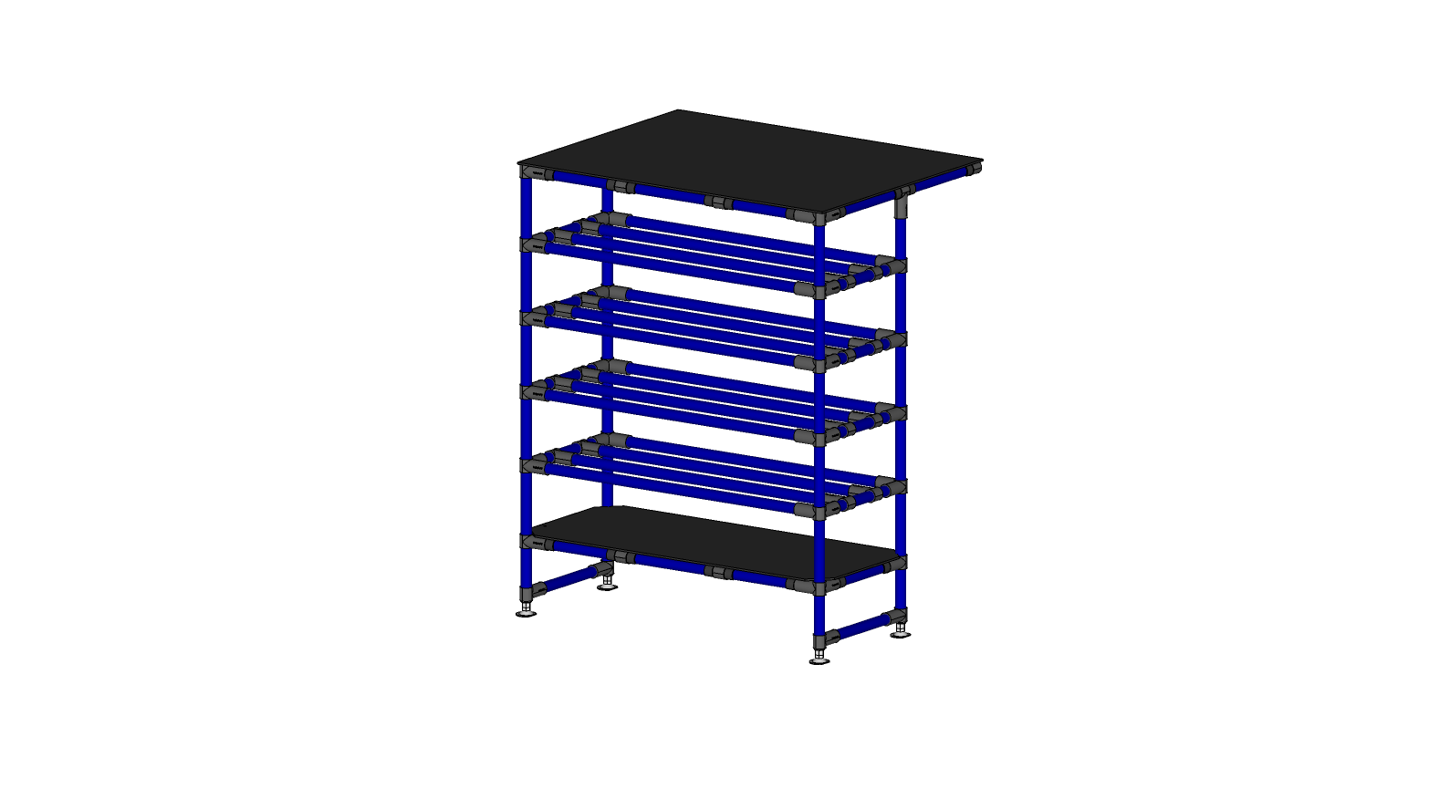 Shelving Unit With Worktable