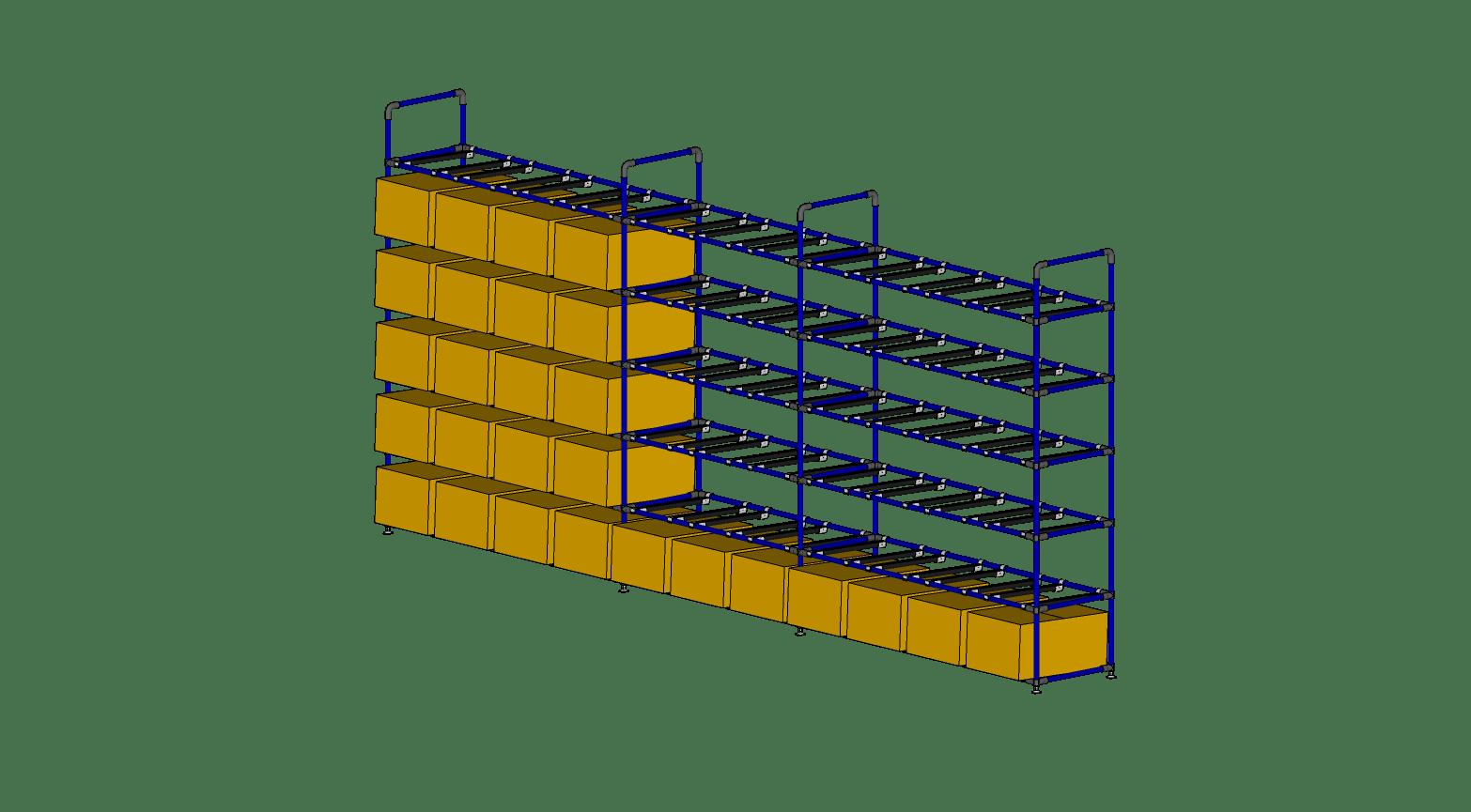 Straight Shelves Supermarket for Boxes