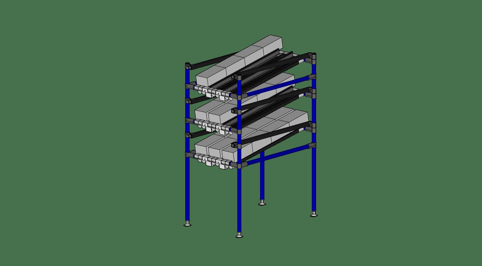 Rack avec tube Plat