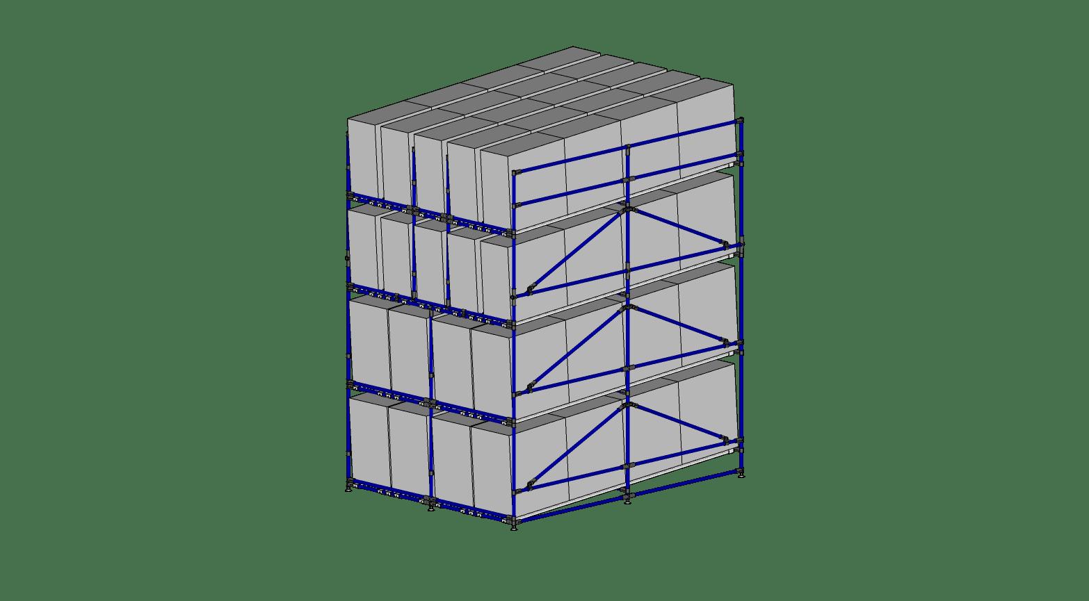 Multi Level Tote Rack