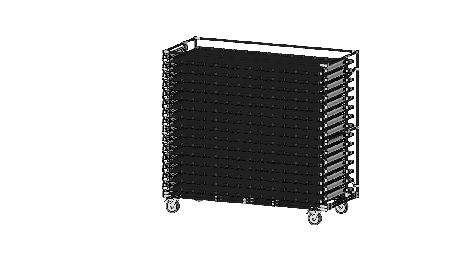 Panels Transport Cart With Drawers