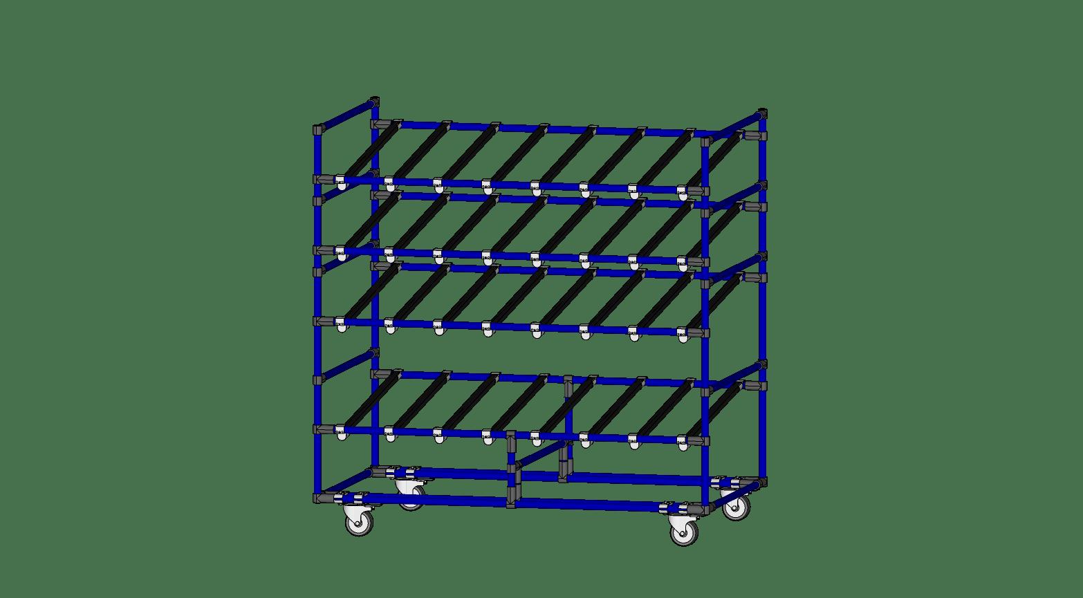 Flat Pipe Kanban Rack
