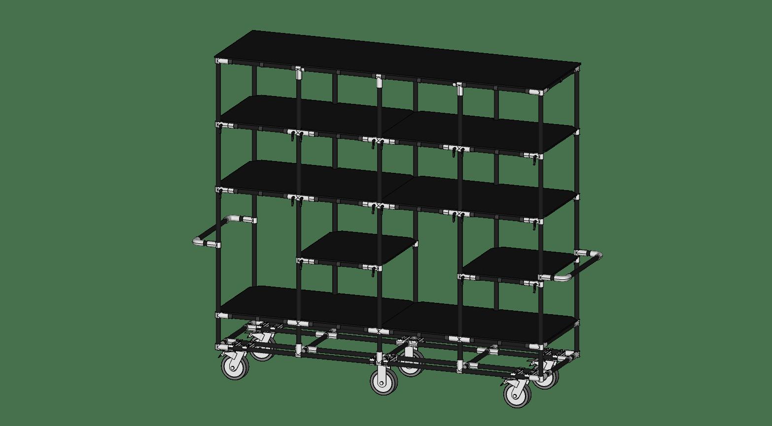 Adjustable Shelf Supply Cart