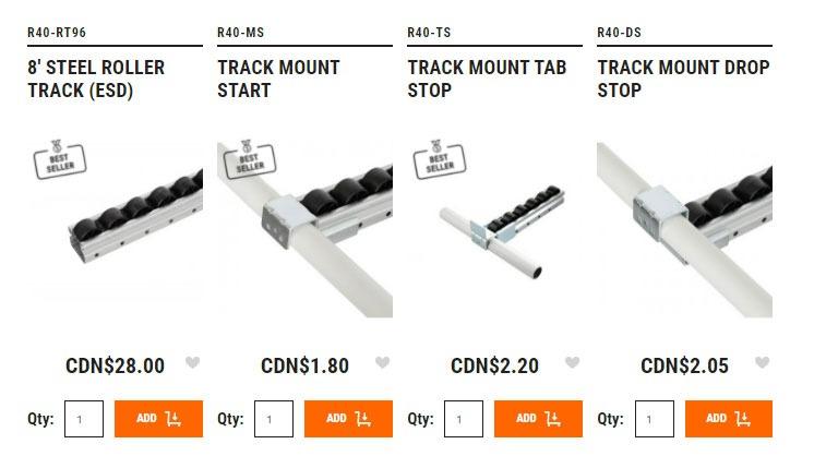 flex vs creform cad roller track