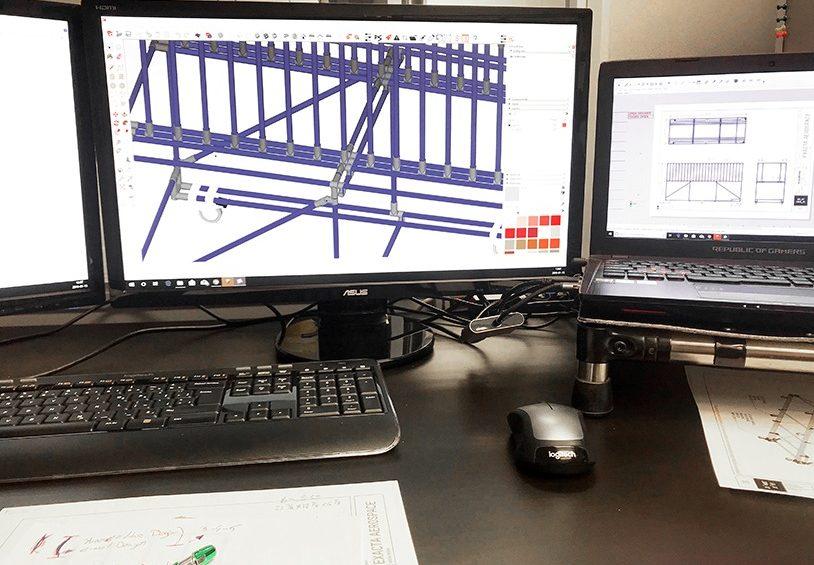 Quand faire la conception d'une structure à l'aide d'un logiciel CAD versus à main levée?